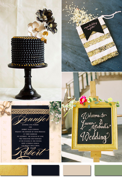 bridalidol_wedding_colours_2015_gold _and_black