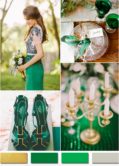 bridalidol_wedding_colours_2015_gold _and_emerald