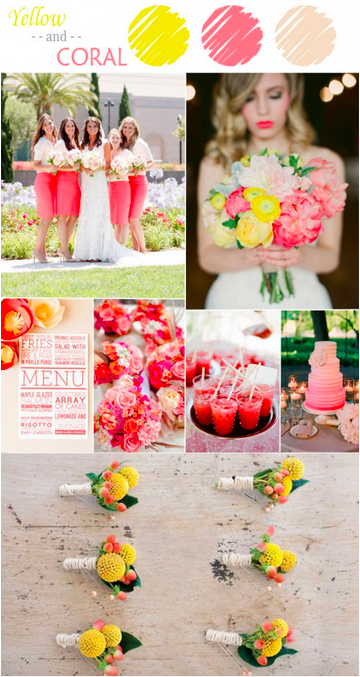 bridalidol_7_ideas_for_summer_wedding_with_yellow_coral