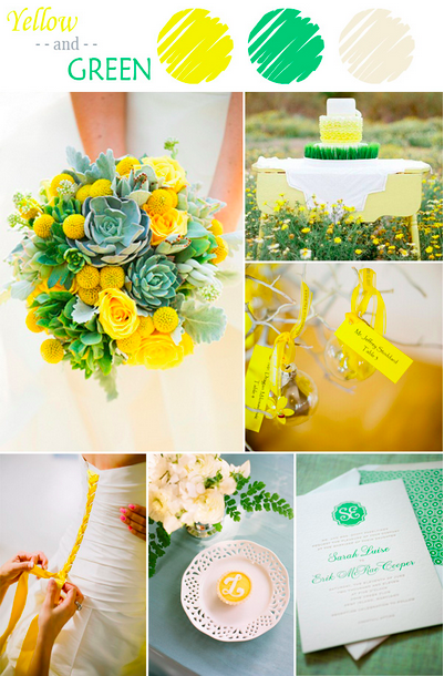 bridalidol_7_ideas_for_summer_wedding_with_yellow_green