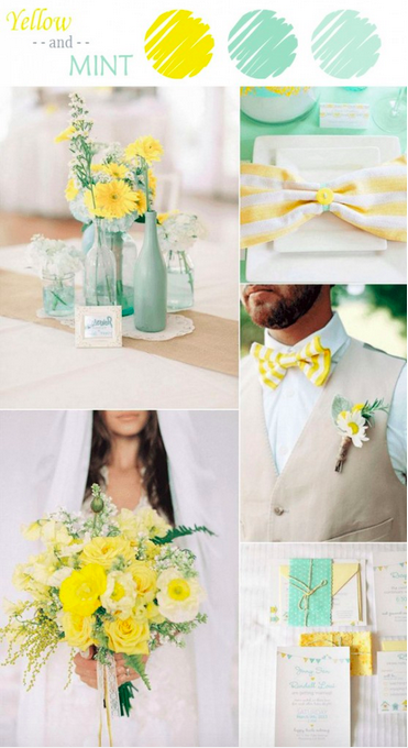bridalidol_7_ideas_for_summer_wedding_with_yellow_mint
