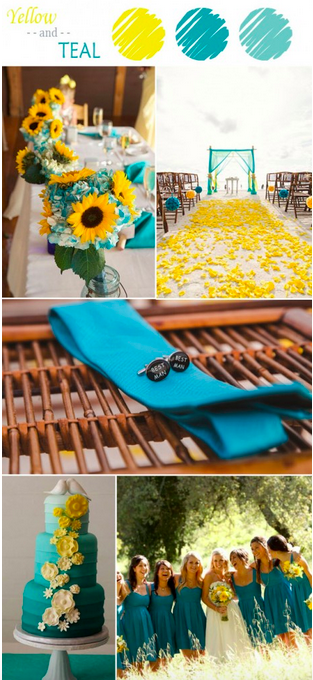 bridalidol_7_ideas_for_summer_wedding_with_yellow_teal