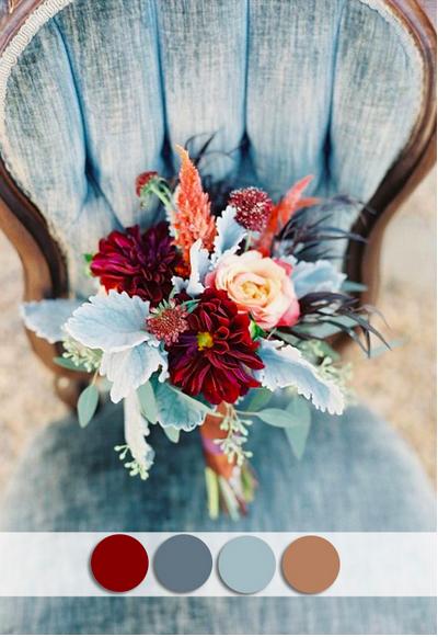 bridalidol_top_10_fall_wedding_colours_burgundy_and dusty_blue