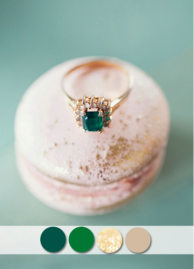 bridalidol_top_10_fall_wedding_colours_emerald_and_gold