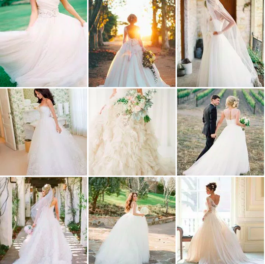 bridalidol_top_five_wedding_dress_silhouettes_princess_style