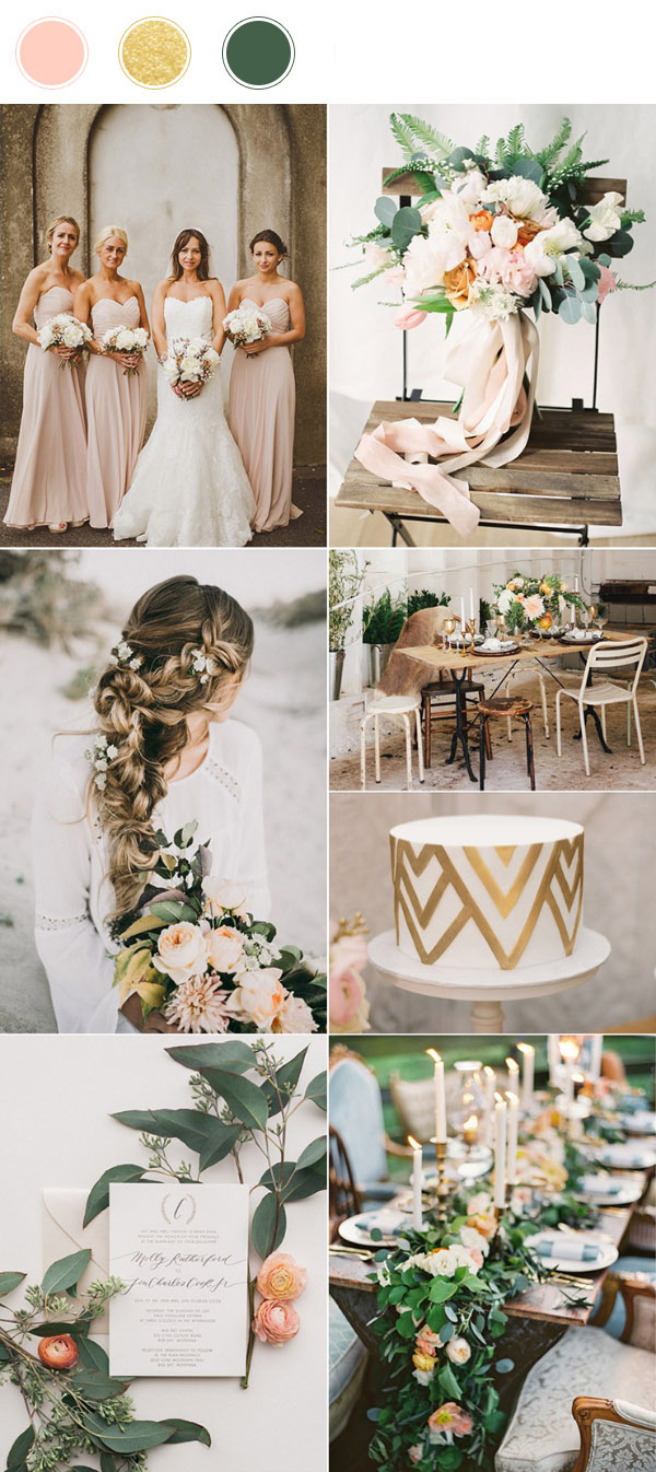 top_10_wedding_color_combinations_for_2017_blush_gold_and_green