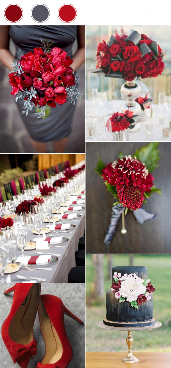 top_10_wedding_color_combinations_for_2017_burgundy_red_and_dark_gray