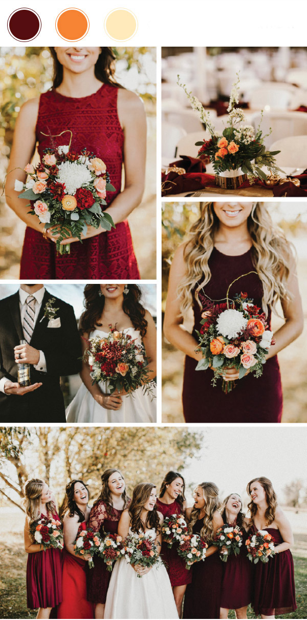 top_10_wedding_color_combinations_for_2017_cranberry_orange_and_ivory