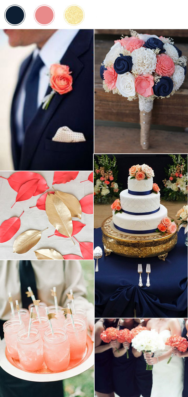 top_10_wedding_color_combinations_for_2017_navy_coral_and_gold