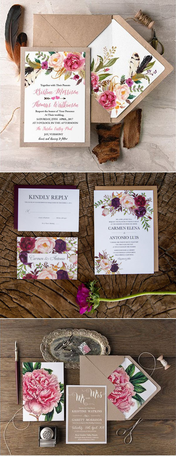 wedding_trends_2017_wedding_invitations_floral