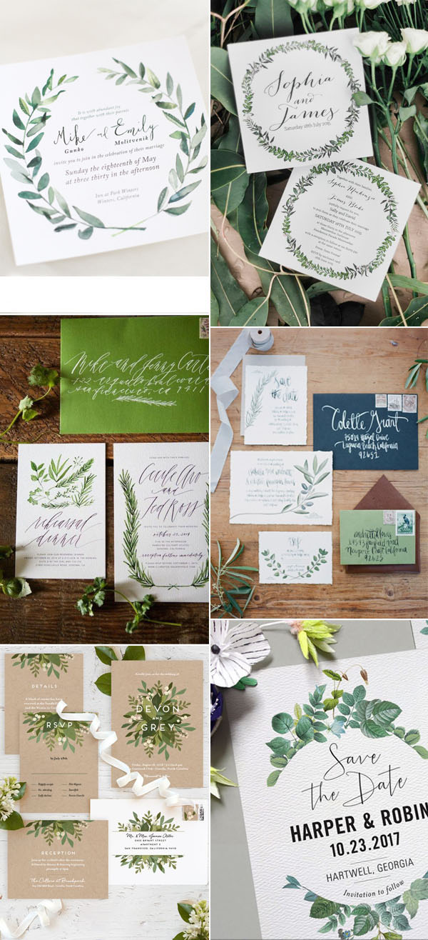 wedding_trends_2017_wedding_invitations_greenery
