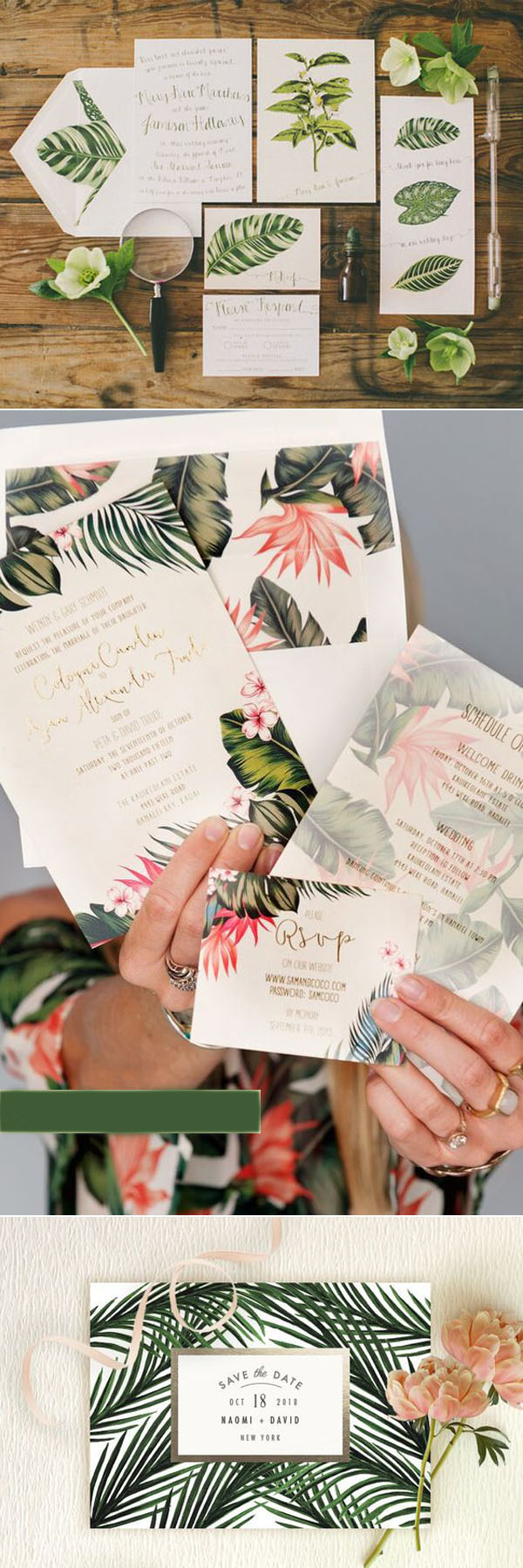 wedding_trends_2017_wedding_invitations_tropical_palm_leaves